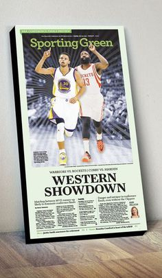 c6b6a60b7ba NBA Conference Finals Preview cover print. San Francisco Chronicle online  store