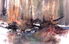 Woodland Stream Final Master Original # 9614 Giclee # 21003  -14%22- 125dpi .jpg