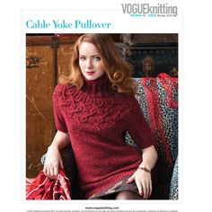 Inside the current issue of Vogue Knitting Magazine Vogue Knitting, Sweater Set, Sweater Cardigan, Knit Fashion, Women's Fashion, Making Ideas, Knitwear, Sweaters For Women, Trending Outfits