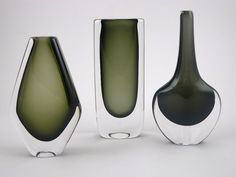 Dusk Series DUSK vases by Nils Landberg for Orrefors