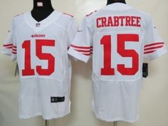 Nike San Francisco 49ers #15 Michael Crabtree White Elite Jersey