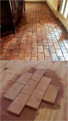 Chevron Parquet Engineered Wood Flooring In Hallway And 3 . Wood Pallet Flooring, End Grain Flooring, Diy Wood Floors, Brick Flooring, Diy Flooring, Bathroom Flooring, Wood Pallets, Flooring Ideas, Hardwood In Kitchen