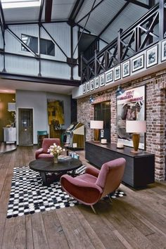 Loft Interior, rebuilt / designed after the Victorian industrial style .. Classy! (st-ouen-loft-4). #InteriorDesign. Loft, ideas, home, house, apartment, decor, decoration, indoor, interior, modern, room, studio.
