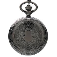 Save $21.25 on Hydia Pocket Watch Antique Black Look Full Hunter Case Quartz Movement White Dial with Chain; only $10.63