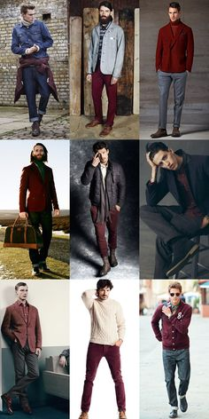 Men's Burgundy Autumn/Winter Lookbook