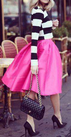 #fall #fashion / pink + stripes
