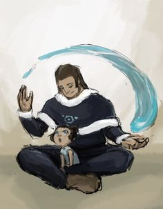 """Tonraq & Korra """"Korra knows what it's like to be a daddy's girl."""""""