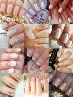 unhas decoradas para noivas How To Make Hair, Make Up, Gel Nails, Nail Polish, Manicures, Glitter, Fabulous Nails, Girls In Love, Nail Arts