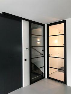 Home Design Decor, Diy Home Decor, House Design, Interior Design, Upstairs Bedroom, Basement Renovations, House Extensions, Sliding Doors, Glass Door