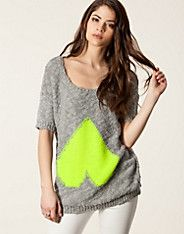 Trucy Knit Top - Vila - Gray - Tops - Clothing - NELLY.COM UK