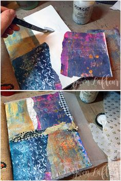 StencilGirl Talk: Gwen's Gems - Winter Art Journaling with Lots of Layers!