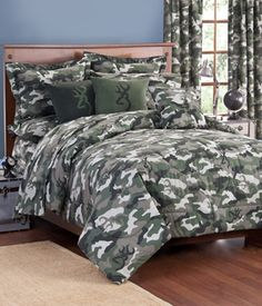 Browning Buckmark Camo Green Bedding Collection