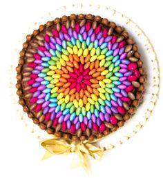 Really Easy Chocolate Rainbow Smarties Cake - Sunday Baking