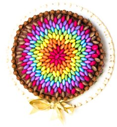 Really Easy Chocolate Rainbow Smarties Cake YUMMY!!!