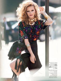 Thais Custodio by  JR Duran for Vogue Brazil August 2013