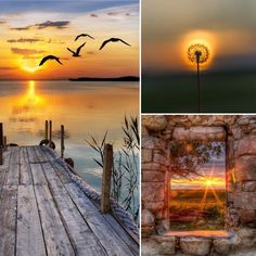 In the Mood for.A Sunset. In the Mood for.A Sunset. Beautiful Collage, Beautiful Sunset, Beautiful Images, Mood Colors, Colours, Collages, Color Collage, Beach Cottages, Belle Photo