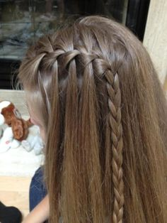 One side half way Braid and small one to finish. Cute and fun