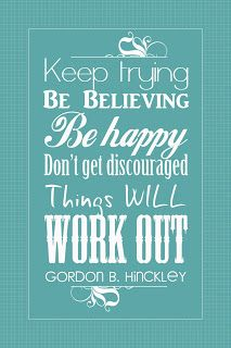 It Works For Bobbi!: Free Friday! Keep Trying Quote