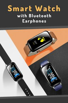 Smartwatch with various features to help you monitor your health and achieve your fitness goals, also featuring Bluetooth earphones that let you enjoy crystal clear stereo sounds. You Fitness, Fitness Goals, Unique Gadgets, Smartwatch, Apple Watch, Monitor, Bluetooth, Crystal, Watches