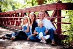 Cute little family on the bridge #family photos-have been wanting to do family Fall pics forever!