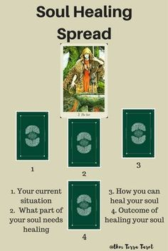 Soul Healing Tarot Card Spread with Wildwood tarot Deck   Oracle Cards   Divination Layout