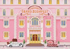 A fan of director Wes Anderson and his wonderfully quirky films such as 'The Grand Budapest Hotel' and 'The Royal Tenenbaums'? Wes Anderson Films, Wes Anderson Style, Spot Illustration, Illustrations, Grand Budapest Hotel, La Famille Tenenbaum, Film Transformers, Wes Anderson Color Palette, Grande Hotel