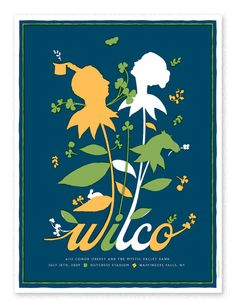 The Heads of State:   Poster for Wilco's upstate NY performance at Wappinger's Falls.
