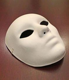#DarkSpotsOnFace Mens Masquerade Mask, Masquerade Party, Mascarade Wedding, Ceramic Mask, Ceramic Bisque, Porcelain Ceramics, Plain White Mask, Italian Masks, Phantom Mask