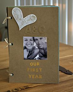 diy one year anniversary scrapbook of our year together. It was a nice trip down memory lane and looking back on the great times we had last year.