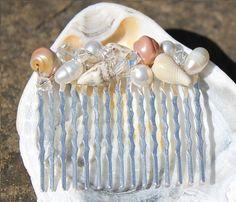Sea Shell Hair Comb Beach Wedding Hair Comb by InspiredScilly, £18.00