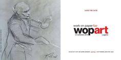 """Da oggi 1 Settembre verrà inaugurata la prima fiera dedicata all'arte del disegno su carta: tra le opere esposte anche i 70 disegni della serie """"I musicisti"""" di Gianni #Maimeri.  Per info e biglietti>http://www.wopart.eu/"""