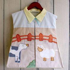 Cotonnier's farm animal diaper stacker