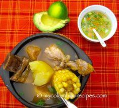 Sancocho Costeño (Atlantic Coast Sancocho) Typical Colombian Food, Colombian Dishes, My Colombian Recipes, Colombian Cuisine, Mexican Food Recipes, New Recipes, Soup Recipes, Cooking Recipes, Sancocho Colombiano