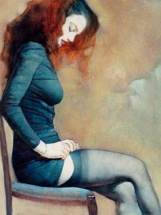 woman, illustration, paint, legs