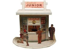 Papermau: Le Kiosque Vintage Paper Model Diorama - by Agence...