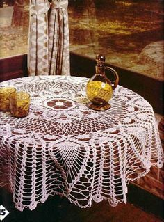 2 Round Tablecloth patterns