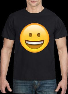 SMILEY EMOJI T-SHIRT, MEN S T-SHIRT  | eBay