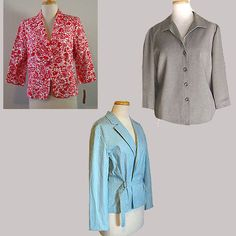 NWT $302 Jacket Lot Ann Taylor-Express-I.E.- Graphic Floral Stripes 3 Blazers #AnnTaylor #BasicJacket #Business