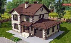 House project - House and cottage projects in .- House project – Projects of houses and cottages in Moscow - Simple House Exterior, Dream House Exterior, Tiny Beach House, Patio Grande, Home Building Tips, Modern Villa Design, Small Buildings, New Home Designs, Facade House