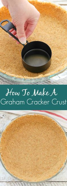 Perfect graham cracker crust for baked pies or no bake pies learn how easy it is to make your own graham cracker crust with this simple tutorial you only need three ingredients and about 10 minutes to prepare this solutioingenieria Images