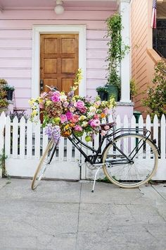 flowers + bike