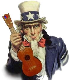 Who knew...Uncle Sam plays ukulele, too!