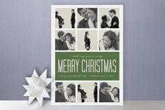 Christmas Photo Gallery. Photo card, photo collage