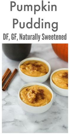 Dairy free, naturally sweetened pumpkin pudding made with healthy, nourishing ingredients is the perfect Thanksgiving dessert. Gluten Free Pumpkin, Gluten Free Desserts, Dairy Free Recipes, Vegetarian Recipes, Healthy Treats, Healthy Desserts, Delicious Desserts, Dessert Recipes, Healthy Holiday Recipes