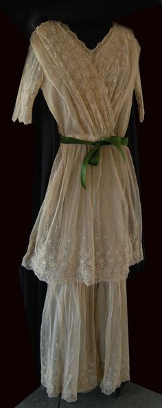Tambour french lace wedding dress 05 on Sale by IconThreads, $300.00