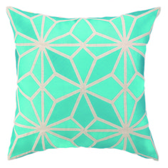"""Decorate your home with our Trina Turk Mojave Turquoise Linen pillow. This decorative pillow will add a pop of color and a whimsical design 