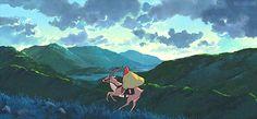 Mononoke Hime: Ashitaka + Yakul