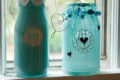 Diy Mason Jars : Diy Spray Painted Glass Jars and Bottles