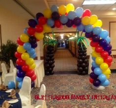 Arch for tropical theme party by Glitterbug Family Entertainment