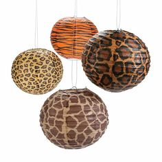 Decorations, Garlands Lanterns Pom Poms and Fans, Animal Print Safari 10 inch Lanterns set of Green Toys, Gifts & Party Supplies at Green Party Goods. Jungle Theme Classroom, Safari Theme Party, Classroom Decor, Party Themes, Animal Print Classroom, Party Ideas, Safari Wedding, Superhero Classroom, Classroom Design